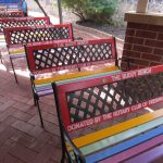 Completed buddy benches