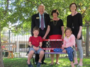 The buddy bench presented to Moerlina School